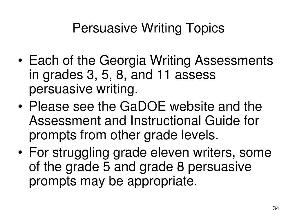 8th grade persuasive writing prompts