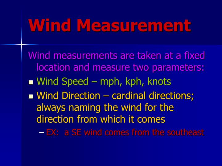Wind Measurement