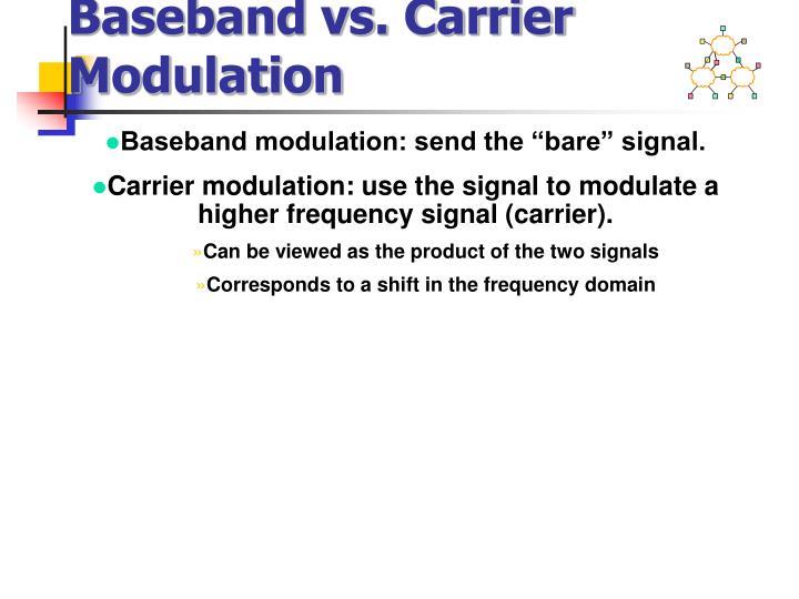 Baseband vs. Carrier Modulation