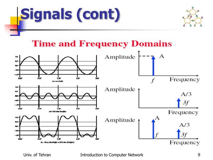Signals (cont)