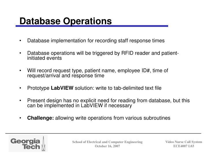 Database Operations