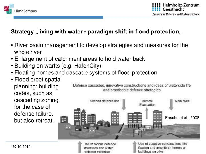 """Strategy """"living with water - paradigm shift in flood protection"""""""