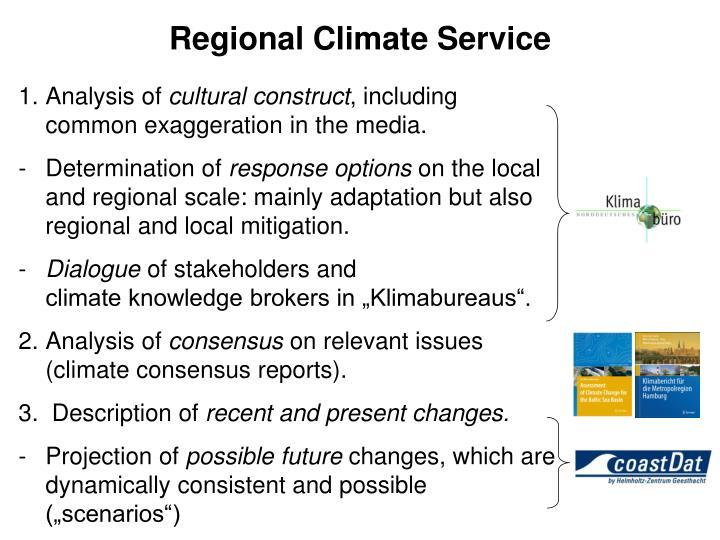 Regional Climate Service