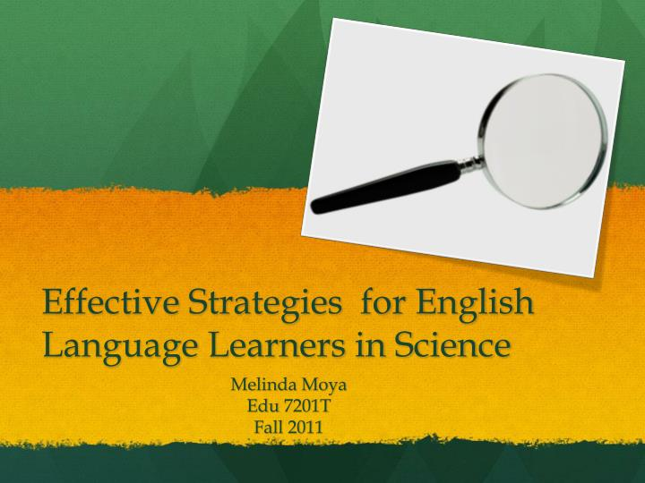 effective strategies for english language l earners in science n.