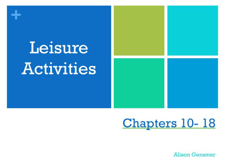 leisure activities n.