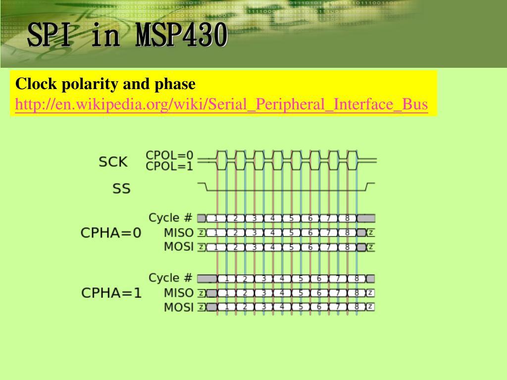 Msp430 spi clock polarity