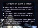 motions of earth s moon