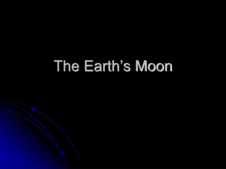 the earth s moon n.