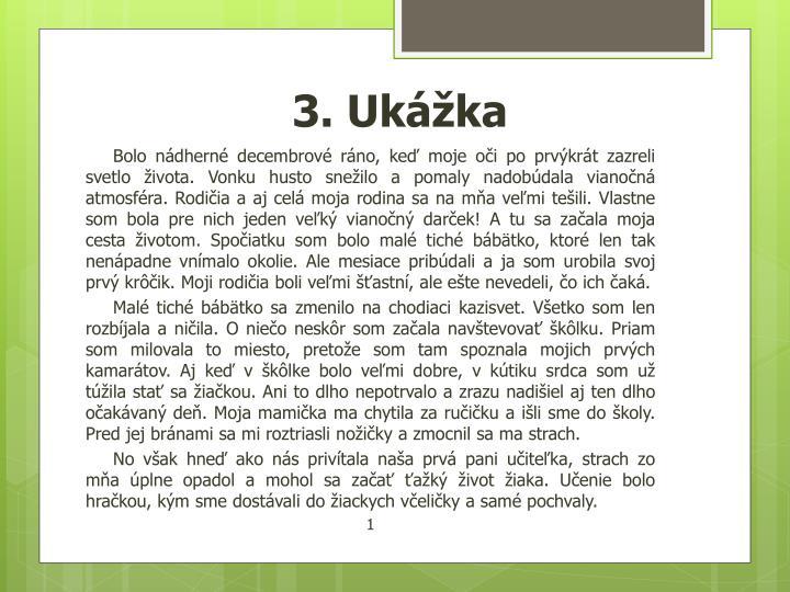 3. Ukážka