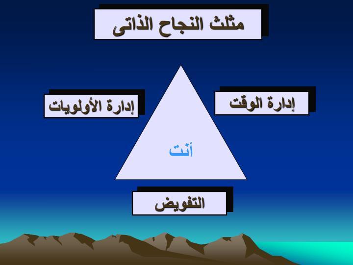 مثلث النجاح الذاتى