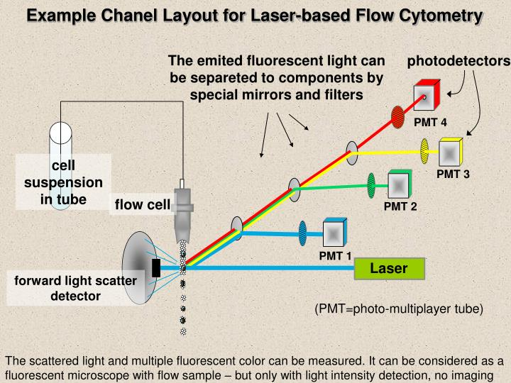 Example Chanel Layout for Laser-based Flow Cytometry