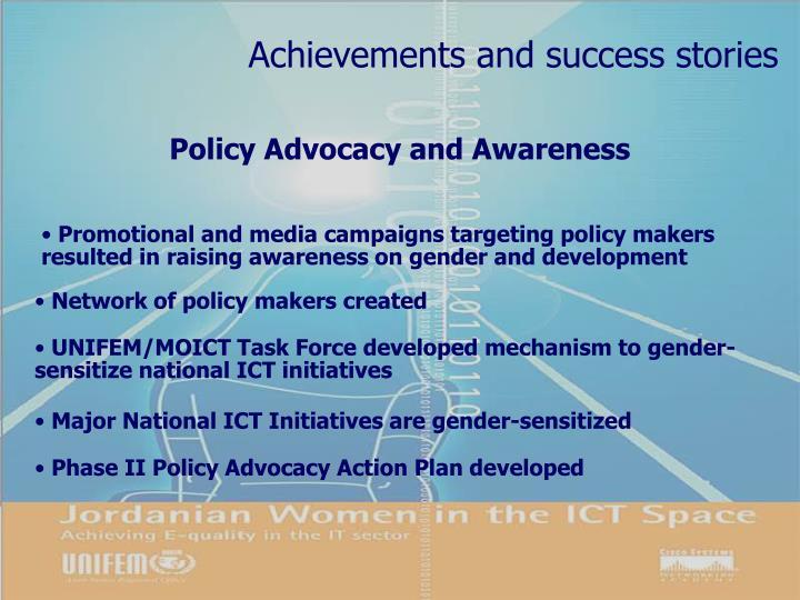 Achievements and success stories