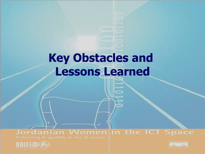 Key Obstacles and