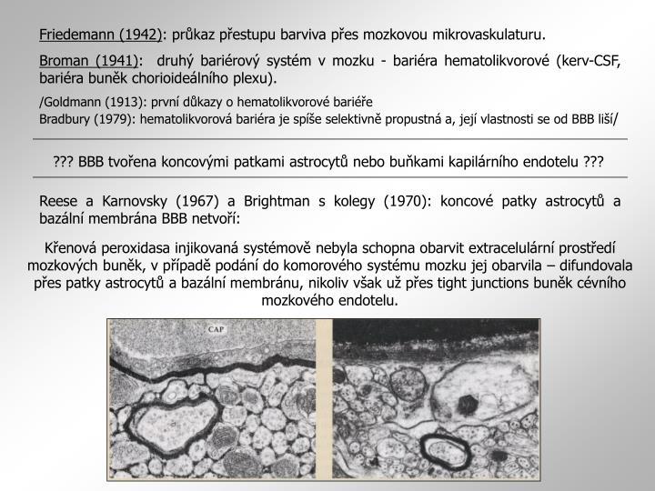 ??? BBB tvořena koncovými patkami astrocytů nebo buňkami kapilárního endotelu ???