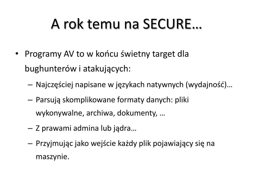 PPT - Ucieczka z Matrixa: (nie)bezpieczna analiza malware