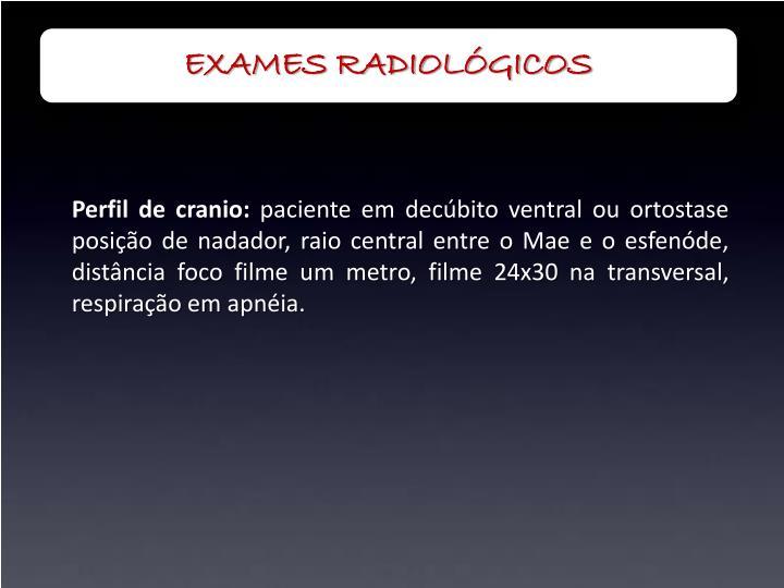 EXAMES RADIOLÓGICOS