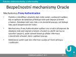 bezpe nostn mechanismy oracle5