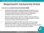 bezpe nostn mechanismy oracle8