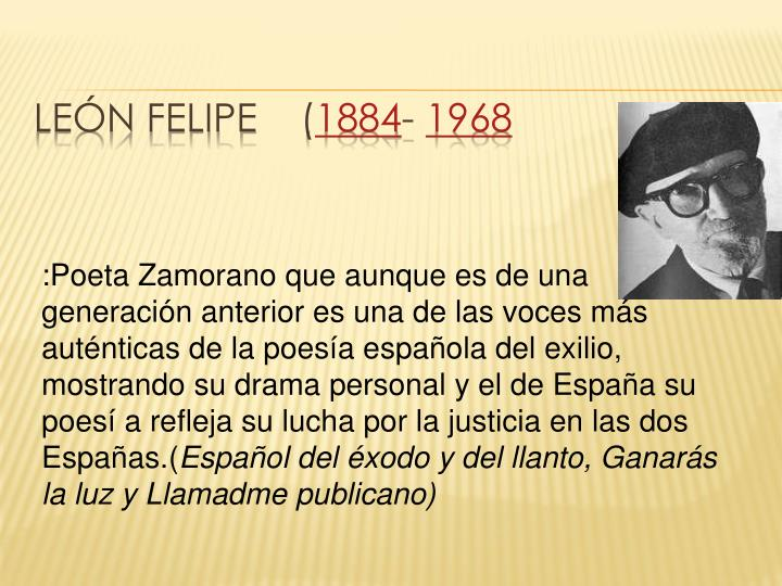 León Felipe    (