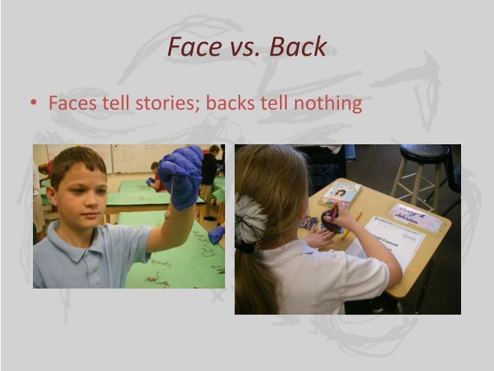 Face vs. Back