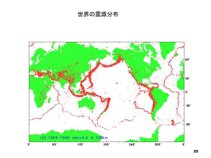 世界の震源分布