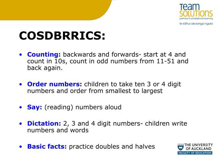 COSDBRRICS: