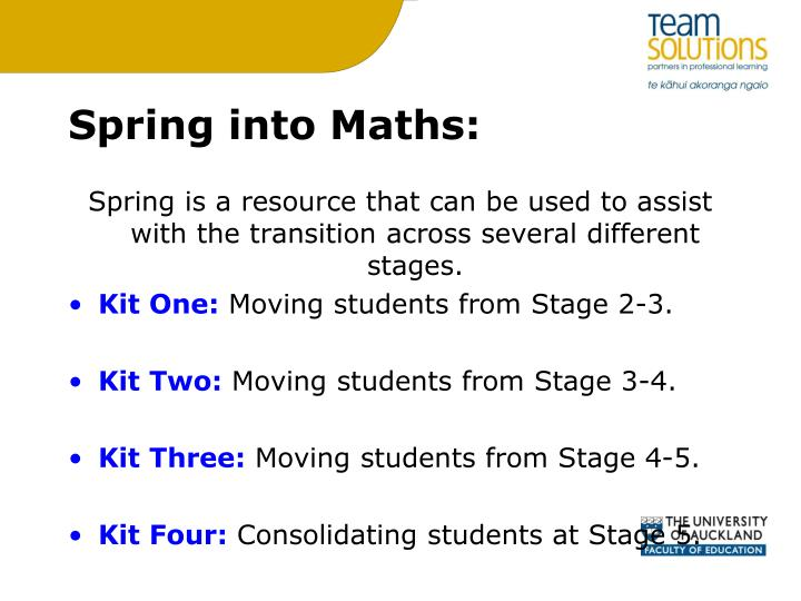 Spring into Maths:
