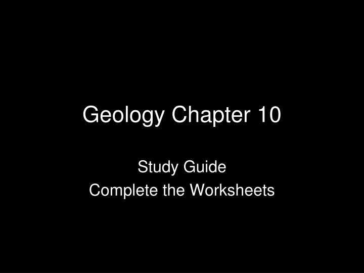 geology chapter 10 n.