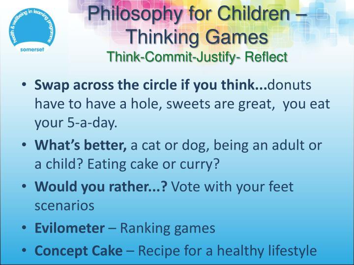Philosophy for Children – Thinking Games