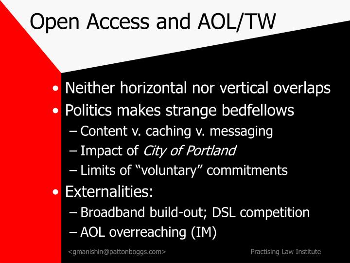 Open Access and AOL/TW