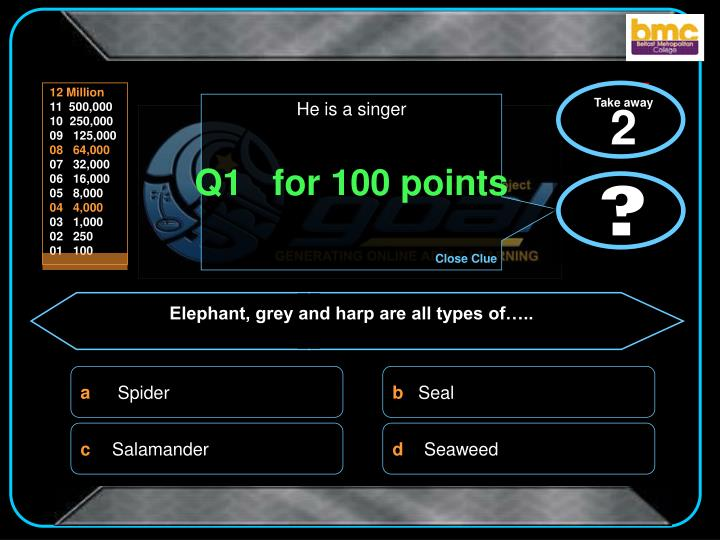 Q1 for 100 points