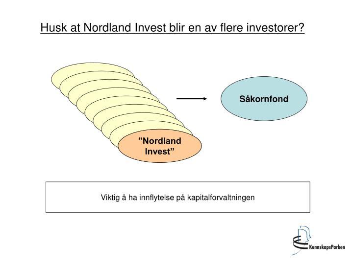 Husk at Nordland Invest blir en av flere investorer?