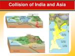 collision of india and asia