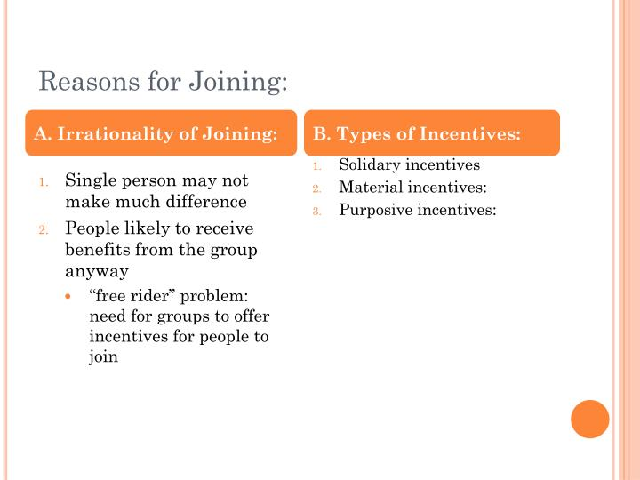 Reasons for Joining: