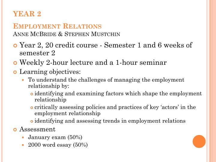 Year 2 employment relations anne mcbride stephen mustchin