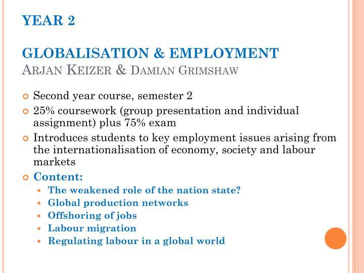 Year 2 globalisation employment arjan keizer damian grimshaw