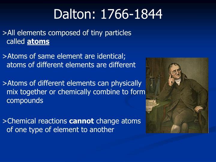 Dalton: 1766-1844