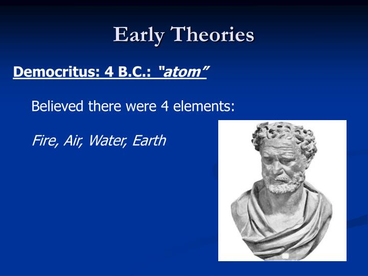 Early Theories