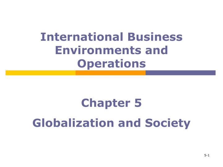 chapter 5 globalization and society n.