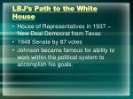 lbj s path to the white house