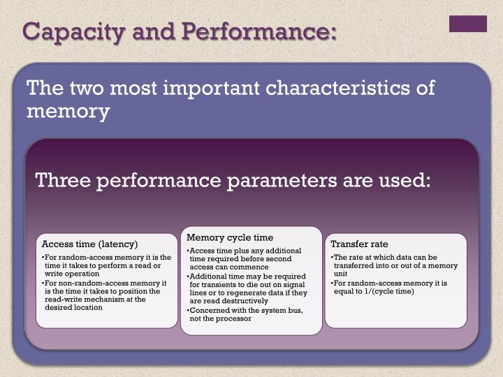 Capacity and Performance:
