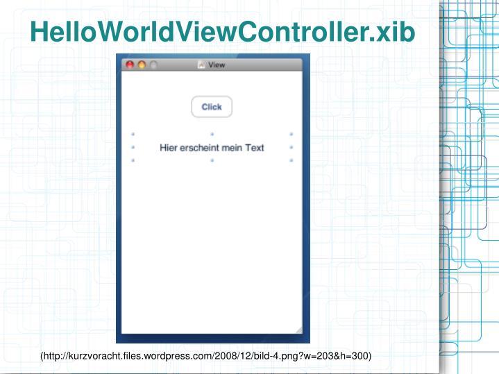 HelloWorldViewController.xib