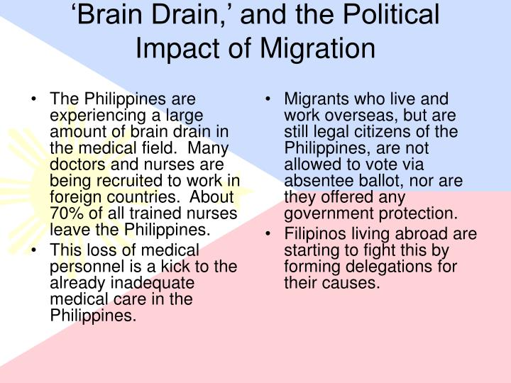 disadvantages of brain drain philippines Discuss the advantages and disadvantages of brain drain in software industry due to the influence of brain drain.