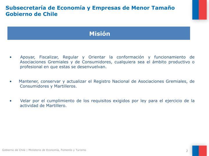 Subsecretar a de econom a y empresas de menor tama o gobierno de chile