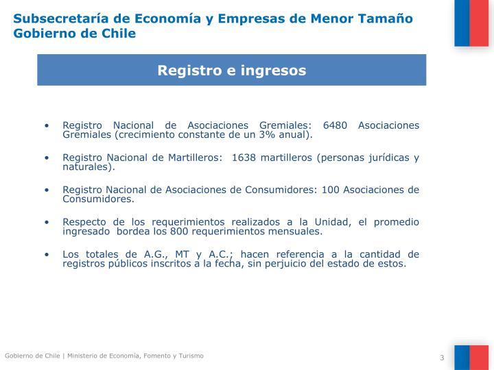 Subsecretar a de econom a y empresas de menor tama o gobierno de chile1
