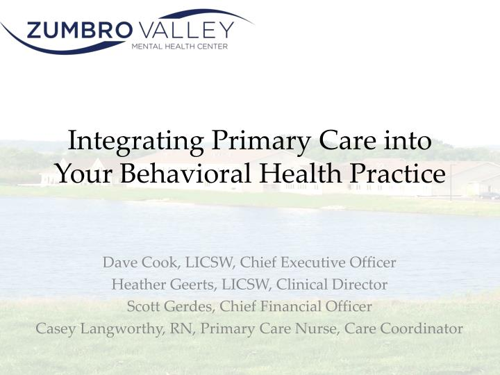 integrating primary care into your behavioral health practice n.