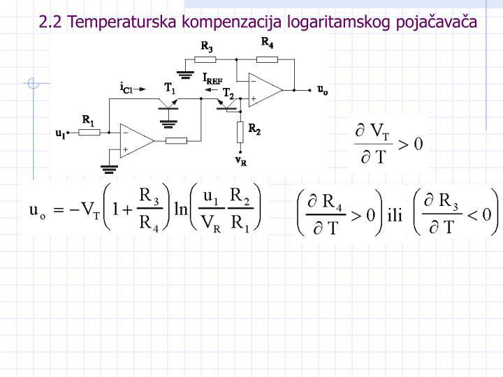 2.2 Temperaturska kompenzacija logaritamskog pojačavača
