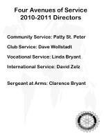 four avenues of service 2010 2011 directors