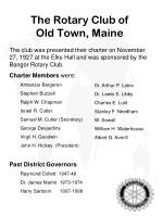 the rotary club of old town maine