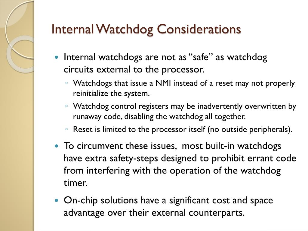 PPT - Watchdog Timers PowerPoint Presentation - ID:5967538